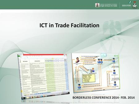 ICT in Trade Facilitation BORDERLESS CONFERENCE FEB. 2014