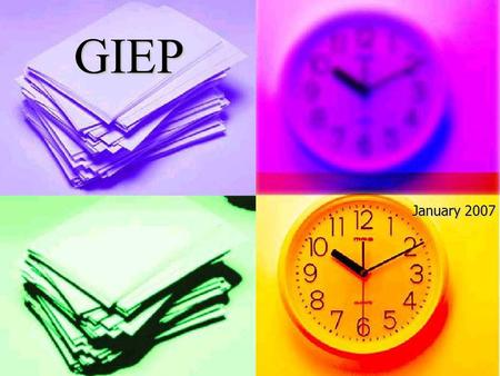 GIEP January 2007. Writing GIEPs is a Balancing Act! Balancing… District Philosophy and State Regulations District Resources and Program Costs Free Appropriate.