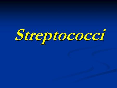 Streptococci. Introduction Pyogenic pathogens - nonmotile, catalase negative, Gram positive cocci in chains.