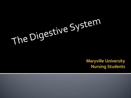 The Digestive System.  Digestion  The process by which the digestive system breaks down food into molecules that the body can use.  2 types of digestion.