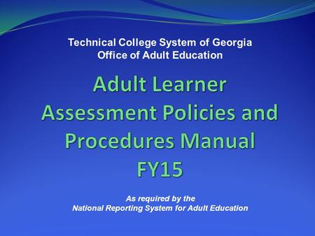 adult education nrs report requirements