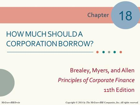 How MUCH Should A CORPORATION BORROW?