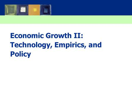 Economic Growth II: Technology, Empirics, and Policy.
