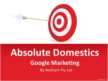 Succeeding on Google By NetStart Pty Ltd Absolute Domestics Google Marketing.