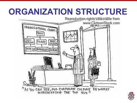 ORGANIZATION STRUCTURE. Question Have you ever been in a situation at home or work where there were too many people in charge of completing a task? What.