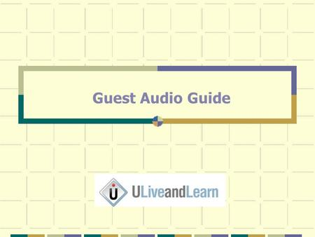 "Guest Audio Guide. At the top of the virtual meeting room, you will see the Meeting Tab, click on ""Manage My Settings"", select ""My Connection Speed"" and."