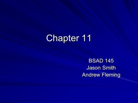Chapter 11 BSAD 145 Jason Smith Andrew Fleming. Introduction The Technology Camel Supporting Today's End User End User Toolset 1. The Internet 2. Mobile.