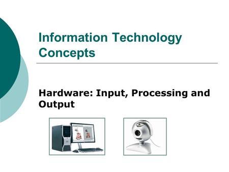 hardware systems computers and information processing essay