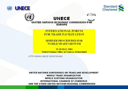 UNECE International Forum on Trade Facilitation Session III: Implementation: The Role of the Business Community Supply Chains and the facilitation of.
