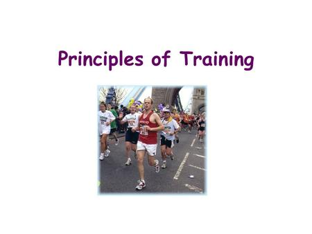 Principles of Training Training is a programme of exercise designed to help you reach your fitness goals or targets In order to ensure that a fitness.