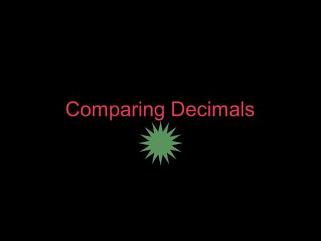 Comparing Decimals. Essential Standard I can compare and order decimals to the thousandths place.