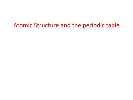 Atomic Structure and the periodic table. 8.1Atomic Structure and the Periodic Table 8.2Total Angular Momentum 8.3Anomalous Zeeman Effect For me too,