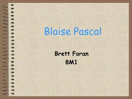 an analysis of the topic of the role of blaise pascal Blaise pascal and pierre fermat are credited with founding mathematical probability  probability—the weighing of evidence and opinion—was an important topic in .