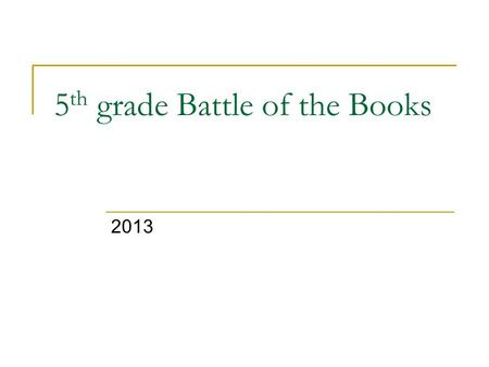 5 th grade Battle of the Books 2013. 100-Year-Old Secret By Tracy Barrett Book Trailer.