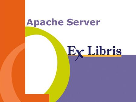 Apache Server. -2--2- The Apache Server Apache is a WWW server that implements the HTTP protocol. Apache runs as a daemon. This means that it is a resident.