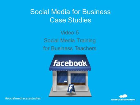 Social media small business case studies