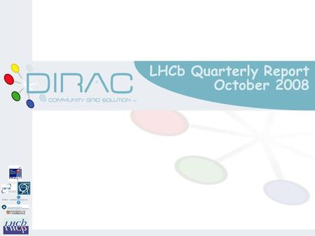 LHCb Quarterly Report October 2008. Core Software (Gaudi) m Stable version was ready for 2008 data taking o Gaudi based on latest LCG 55a o Applications.