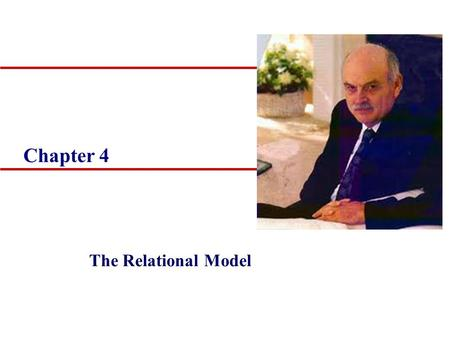 Chapter 4 The Relational Model. 2 Objectives u Terminology of relational model. u How tables are used to represent data. u Connection between mathematical.