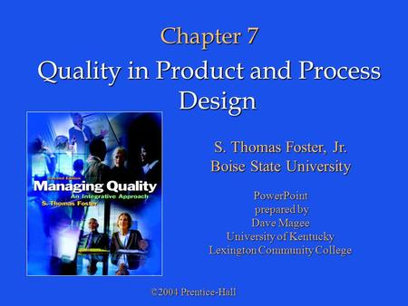 Quality in Product and Process Design
