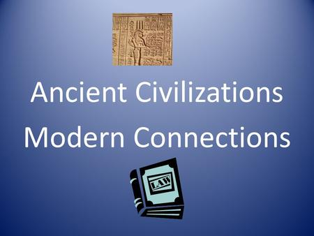 Ancient Civilizations Modern Connections. WRITING SYSTEM: Yes, No, Maybe So? Egyptians used Hieroglyphics. English uses a 26 letter alphabet. Why does.