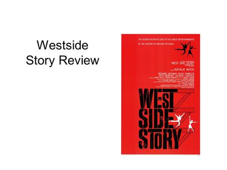 Westside Story Review.