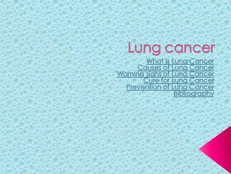 Lung cancer, like all cancers, happens with abnormal cell function. Lung cancer is a very life threatening cancer, as it tends to spread early and is.