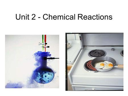 Unit 2 - Chemical Reactions. Double displacement occurs between ions in aqueous solution. A reaction will occur when a pair of ions come together to produce.