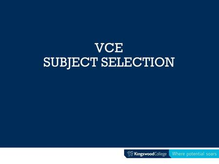 VCE SUBJECT SELECTION. Preparation so far… VCE Careers Expo – subject selection seminar Morrisby testing and information evening 1:1 interviews –Morrisby.