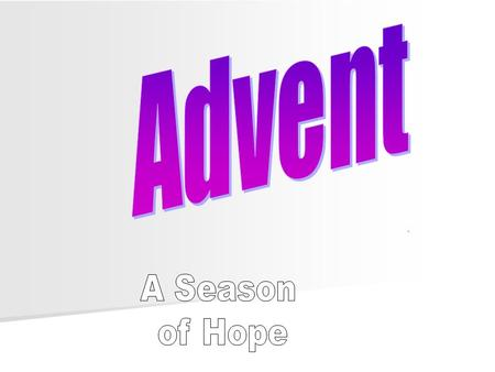 Introduction Advent is a sacred season in the Christian Liturgical calendar. It is the beginning of the Christian calendar. The season of Advent is celebrated.