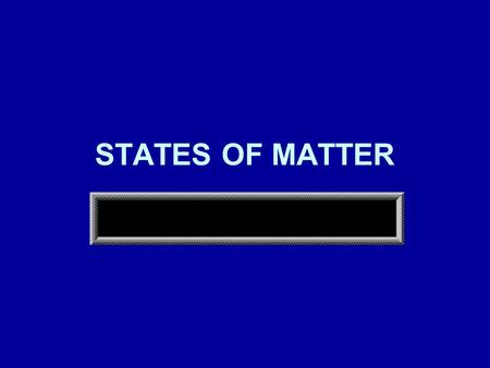 STATES OF MATTER. MATTER Affected by temperature and pressure A change in temperature and/or pressure can change the state of matter of a substance.
