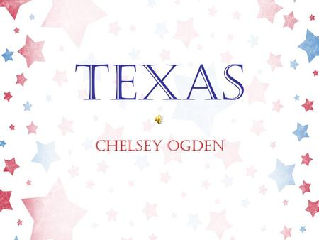 "Texas Chelsey Ogden Texas State Flag ""The Lone Star State"" Honor the Texas flag; I pledge allegiance to thee, Texas, one state under God, one and indivisible."
