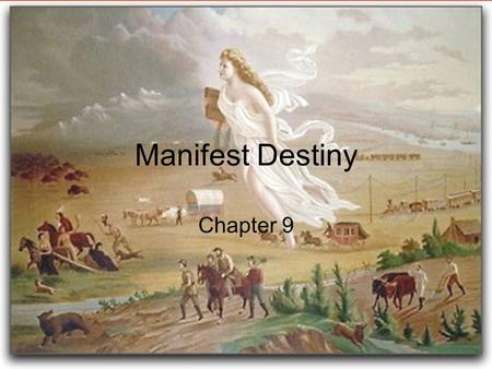 Manifest Destiny Chapter 9. accept Mexican citizenship. worship in the Catholic Church. follow the Mexican Constitution, which did not permit slavery.