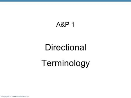 A&P 1 Directional Terminology.