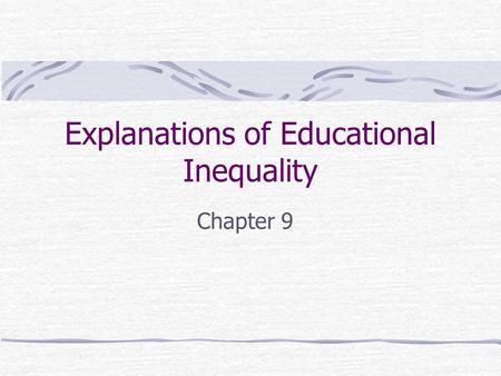 explanations for inequality Introduction to global inequality in 2000, the world entered a new millennium in the spirit of a grand-scale new year's resolution, it was a time for lofty aspirations and dreams of changing the world.
