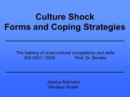 Forms and Coping Strategies