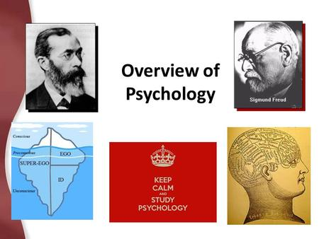 Overview of Psychology Wilhelm Wundt gets it started First Experimental Psych Lab (1879)