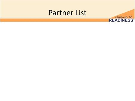 Partner List. 1 Minute Discussion Find out what you have in common with your partner. Why were you paired together? Microsoft, 2011.