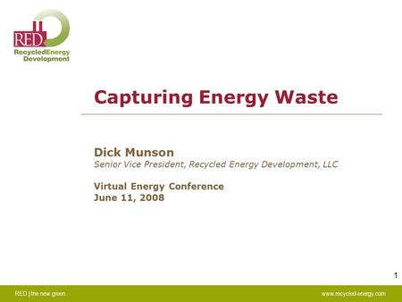 Capturing Energy Waste