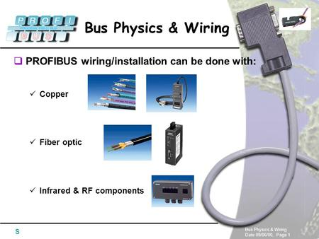 PROFIBUS wiring/installation can be done with: