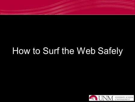 How to Surf the Web Safely. What is this a picture of?