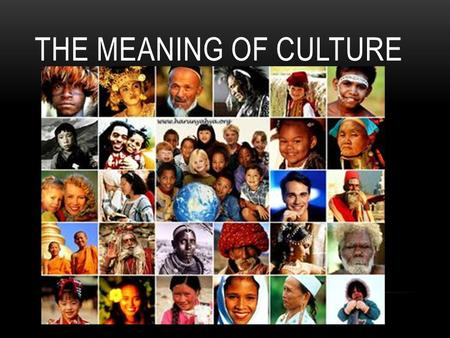 ThE MEANING OF CULTURE.