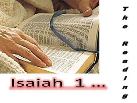 3. Isaiah is one of the major prophets of the Old Testament that teaches us concerning salvation, concerning Christ, and also concerning the church.