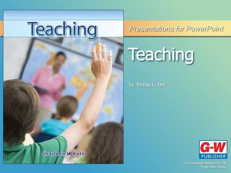 12 Instructional Methods Permission granted to reproduce for educational use only.© Goodheart-Willcox Co., Inc. Objective Explain the role of all teachers.