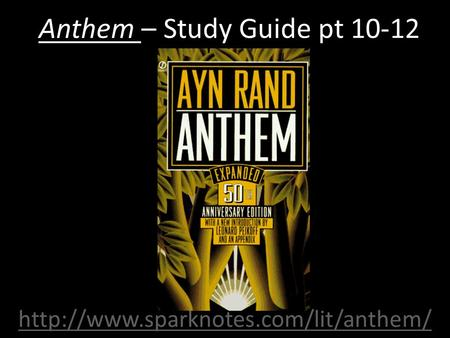 Anthem Study Guide Flashcards | Quizlet