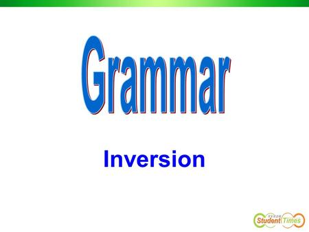 Grammar Inversion.