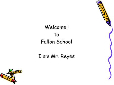 Welcome ! to Fallon School I am Mr. Reyes. Service Delivery Large group Small group Pairs Individual.
