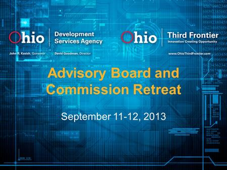 Advisory Board and Commission Retreat September 11-12, 2013.