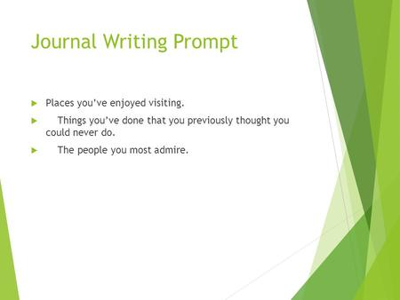 Journal Writing Prompt
