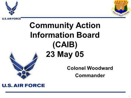 Community Action Information Board (CAIB) 23 May 05