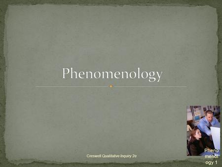 phenomenology qualitative research